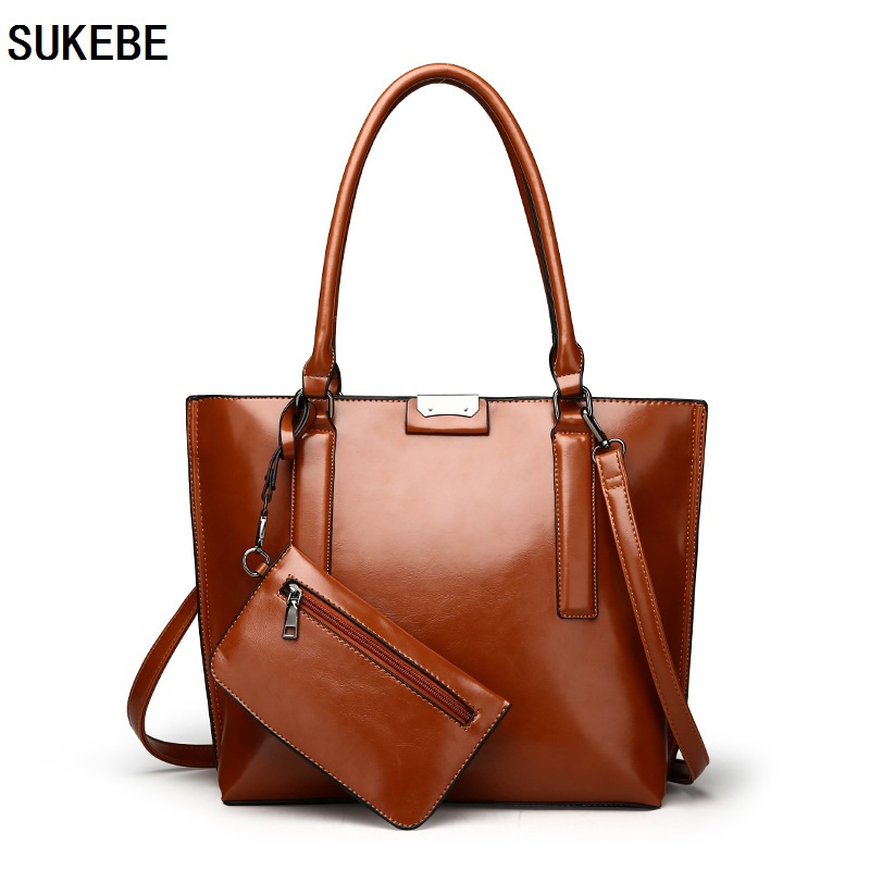 SUKEBE Women Bag Leather Handbags High Quality Casual Female Bags Vintage Brand Shoulder And Purse Bag Tote bolsa Feminina new 2016 women bag vintage canvas handbags messenger bags for women handbag shoulder bags high quality casual bolsa l4 2669