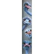 Новый алмазов картина 5D камни в форме ромба/круглый дрель животных страуса Даймонд горный хрусталь вышивка, вышивка крестиком на рисунке, комплект M608