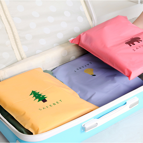 10 Pcs lot Cartoon pull edge travel pouch Luggage storage bag Waterproof clothing bags sealing bag underwear shoes sorting bags in Storage Bags from Home Garden