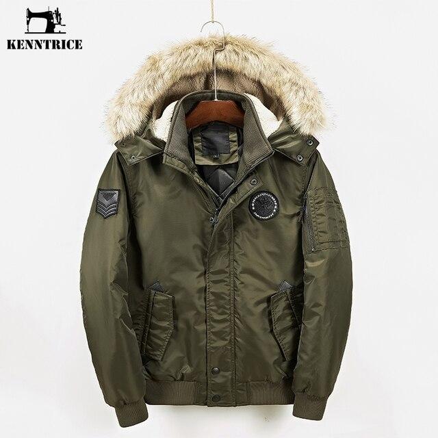 05a6d35043 Kenntrice masculino inverno casacos jaquetas masculino parkas casacos  masculino casaco inverno homem Polyster Tecido Capuz De