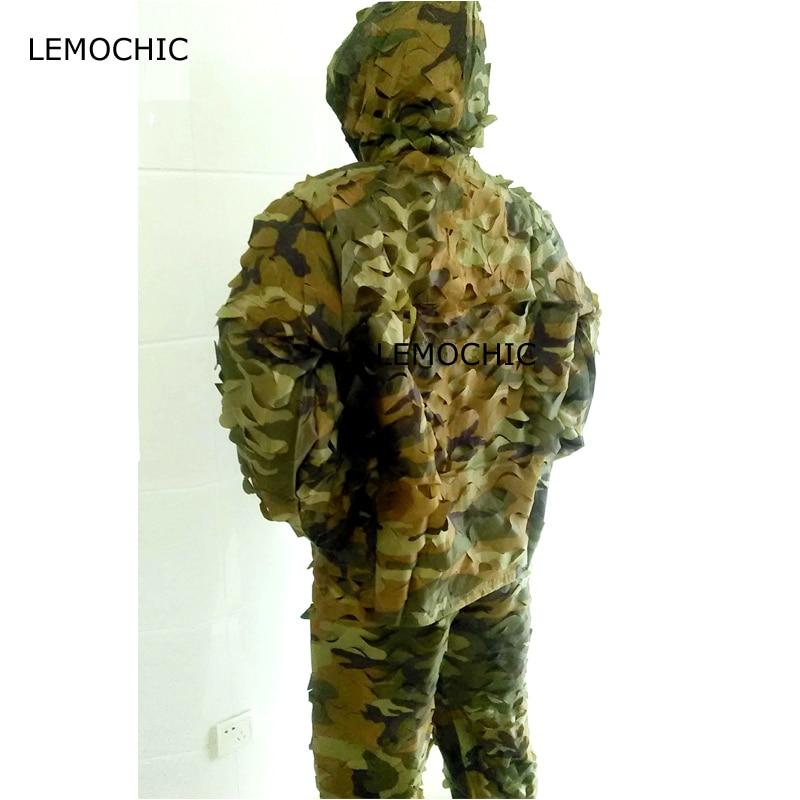 LEMOCHIC airsoft chasse échassier paintball tactique désert tropic woodland sniper camo militaire tactique camouflage ghillie costume