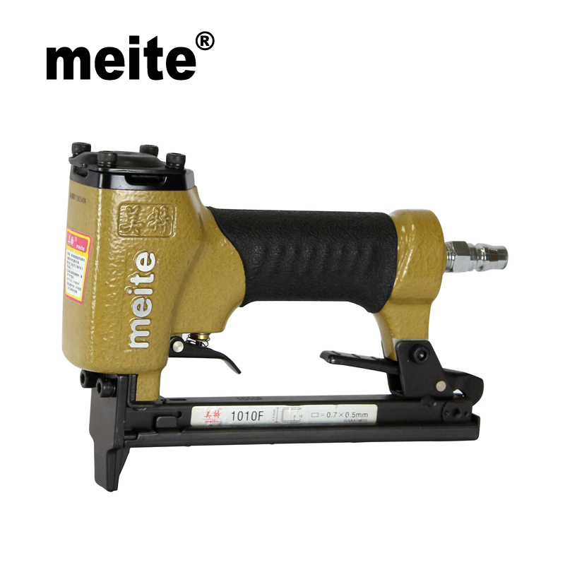 Meite 1010F crown 11.2mm pneumatic bedding nailer stapler gun air tools spare parts stapler for furniture  August.24 Update Tool