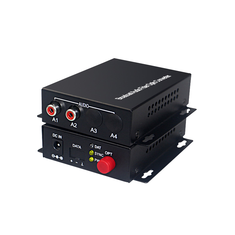 Image 2 - 2 channel audio optical converter Audio Broadcast Fiber Transceiver  for Audio intercom broadcast system (Tx/Rx) 1 set-in Fiber Optic Equipments from Cellphones & Telecommunications