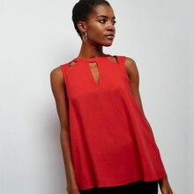 2018 Summer Women T Shirts Sleeveles Top Tee For S Clothing Elegant Vintage Feminine Plus Size