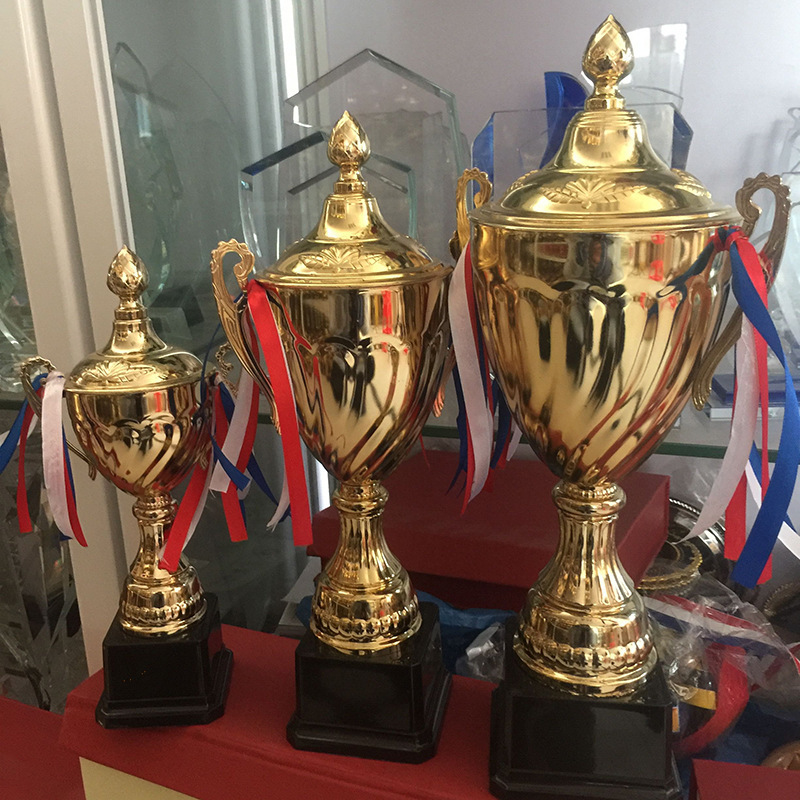 Customizable Sports Competition Trophy Bring Cover Electroplate Trophy Cup Applicable To Sports Meeting Honor Champions Awards