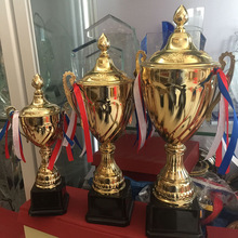 Customizable Sports Competition Trophy Bring Cover Electroplate Cup Applicable To Meeting Honor Champions Awards