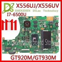 KEFU X556UJ X556UV motherboard for ASUS X556U X556UJ X556UV X556UF X556UR laptop motherboard I7 6500U GT920/GT930 Test