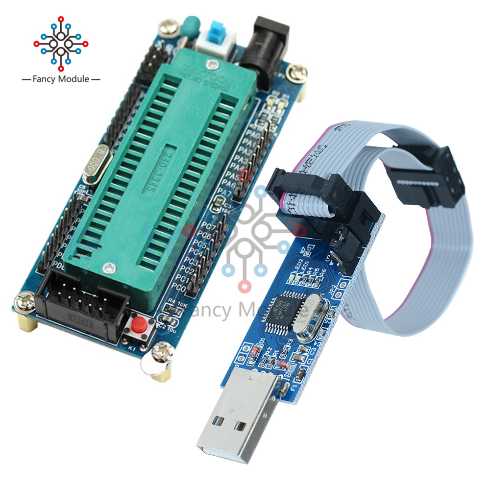 AVR ATMEGA16 Minimum System Board ATmega32 + USB ISP USBasp Programmer For ATMEL