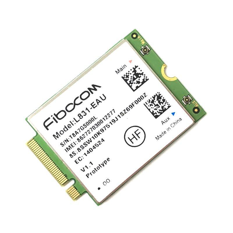 fibocom L831-EAU LTE 4G 3G Wireless Module ThinkPad T470 T570 X270 L470 L570 P51S New 1pcs 5pcs 10pcs 50pcs 100% new original sim6320c communication module 1 xrtt ev do 3g module