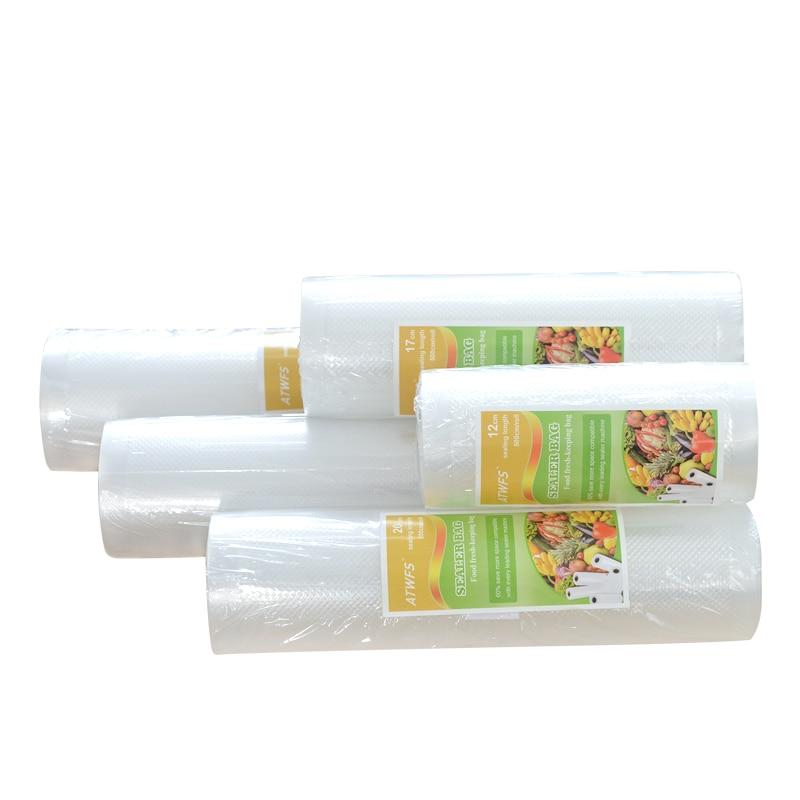 Vacuum Plastic Bag Storage home Vacuum Sealer Food Bags 12+17+20+25+28cm*500cm 5 Rolls/Lot Vacuum Packaging Rolls