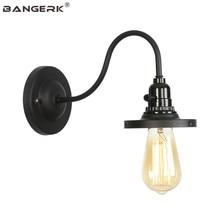 Скандинавский дизайн Винтажный переключатель светодиодный настенный светильник Лофт Эдисон бра черные железные Современные Настенные светильники для домашнего декора освещение Wandlamp