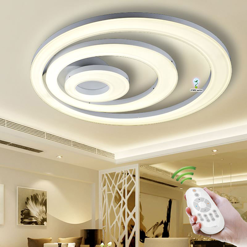 New acrylic modern led ceiling lights lamp for living room bedroom abajur indoor lighting for Lumiere pour chambre