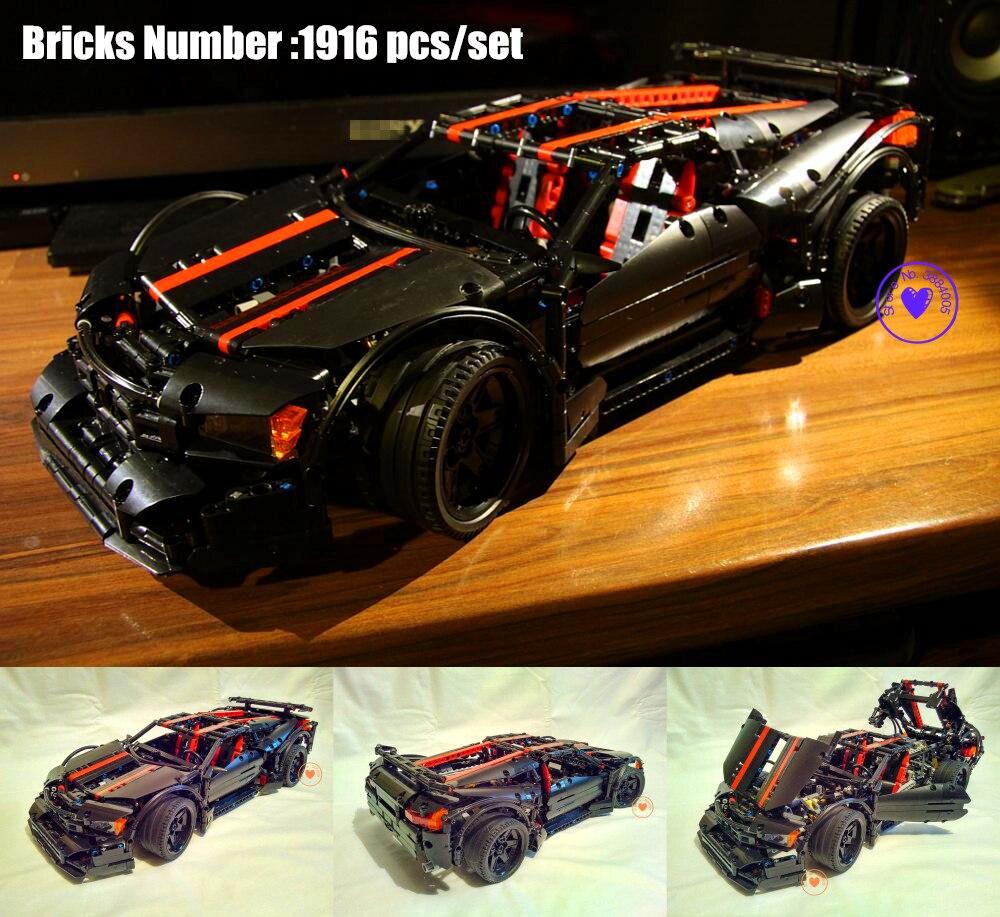 NOUVEAU MOC Technique série Assassin X19 modèle voiture de course fit legoings technique Racer voiture de ville Building Block Briques bricolage Jouet cadeau enfant