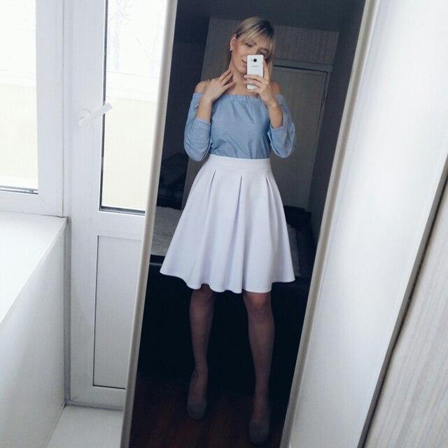 Aliexpress.com : Buy HYH HAOYIHUI Zipper White Skirt Women A line ...