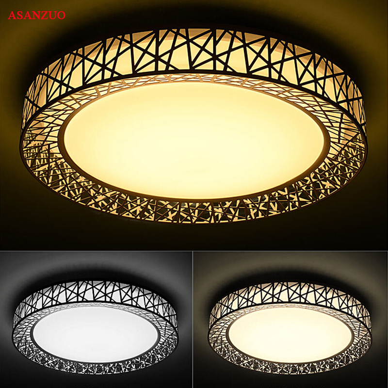 Modern Round LED ceiling lights For indoor home lighting lamparas de techo led lamps for living room white ceiling lamp 110V220V 38w modern led ceiling lights for living room acrylic stainless ceiling lamp lustre lamparas de techo bar home lighting