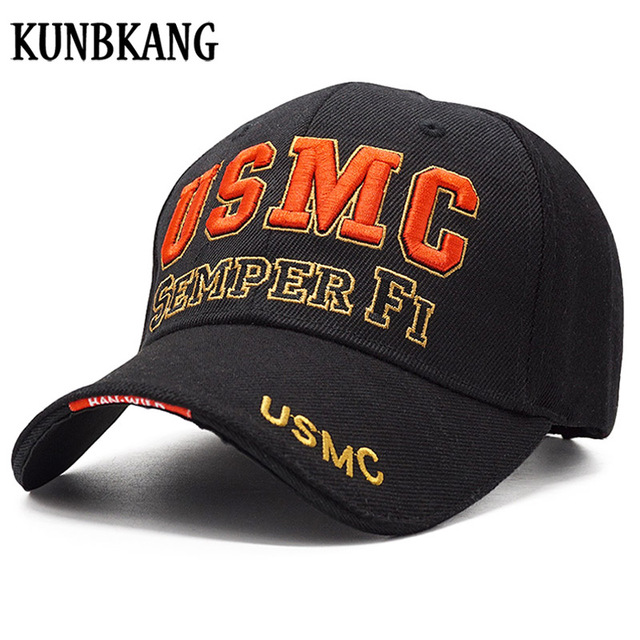 df49cb4e97 New Arrive US Marine Tactical Baseball Cap Men USMC Navy Snapback Hat  SEMPER FI Bone Adjustable