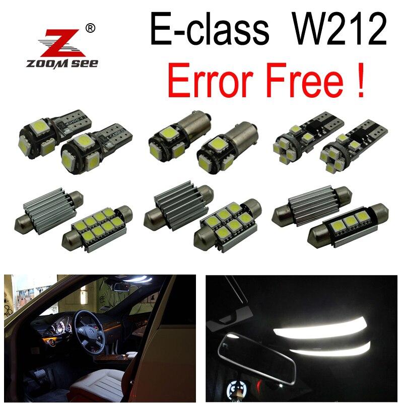 23x ошибок светодиодный светильник Интерьер Лампы для чтения Комплект для Mercedes-Benz E class W212 седан купе(09-15