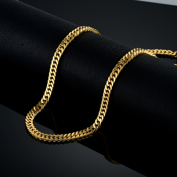 Vintage Long Gold Chain For Men Chain Necklace New Trendy Gold Color Stainless Steel Thick Bohemian Jewelry Colar Male Necklaces