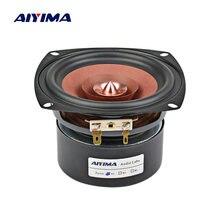 AIYIMA 1 Uds 4 pulgadas de Audio de controlador de altavoz de alta fidelidad 4 8 Ohm 30W altavoz de gama completa estantería altavoz amplificador DIY