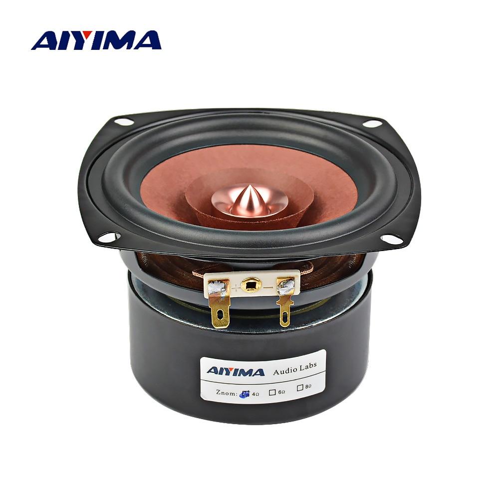 Aiyima 1PC 4Inch Audio Speaker Hifi 4Ohm 8Ohm 30W Full Range Speaker Bookshelf Loudspeaker For Amplifier