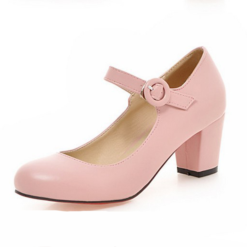 zapatos mujer plus size 34-43 shoes woman square med kitten heel round toe sweet princess lolita shoes pumps pre spring oxfords eur 34 44 angelic imprint zapatos mujer lolita cosplay punk pumps high boots princess sweet girl s pumps black women s shoes