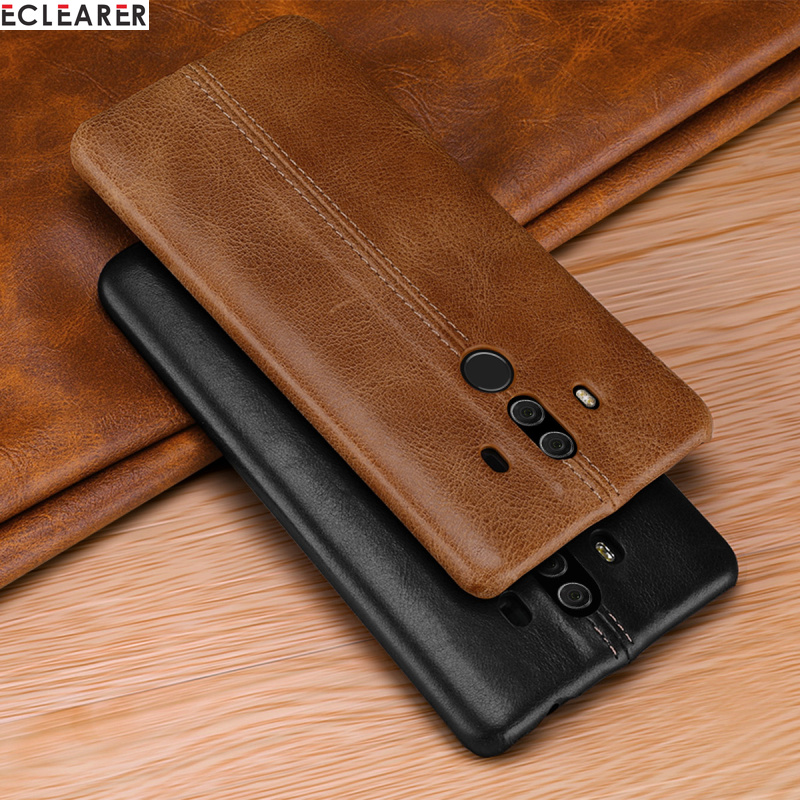 Genuine Leather Case Huawei Mate 10 Back Cover For Huawei ...