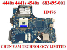 Wholesale Laptop motherboard 683495-001 for HP Probook Promo 4440s 4441s 4540s HM76 Notebook mainboard 100%Tested 90DaysWarranty