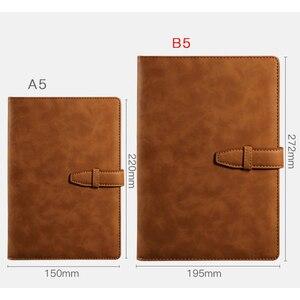 Image 4 - RuiZe carnet de notes B5, carnet de notes, en cuir de bureau, couverture rigide, Agenda 2020, vintage, carnet de notes, planificateur quotidien