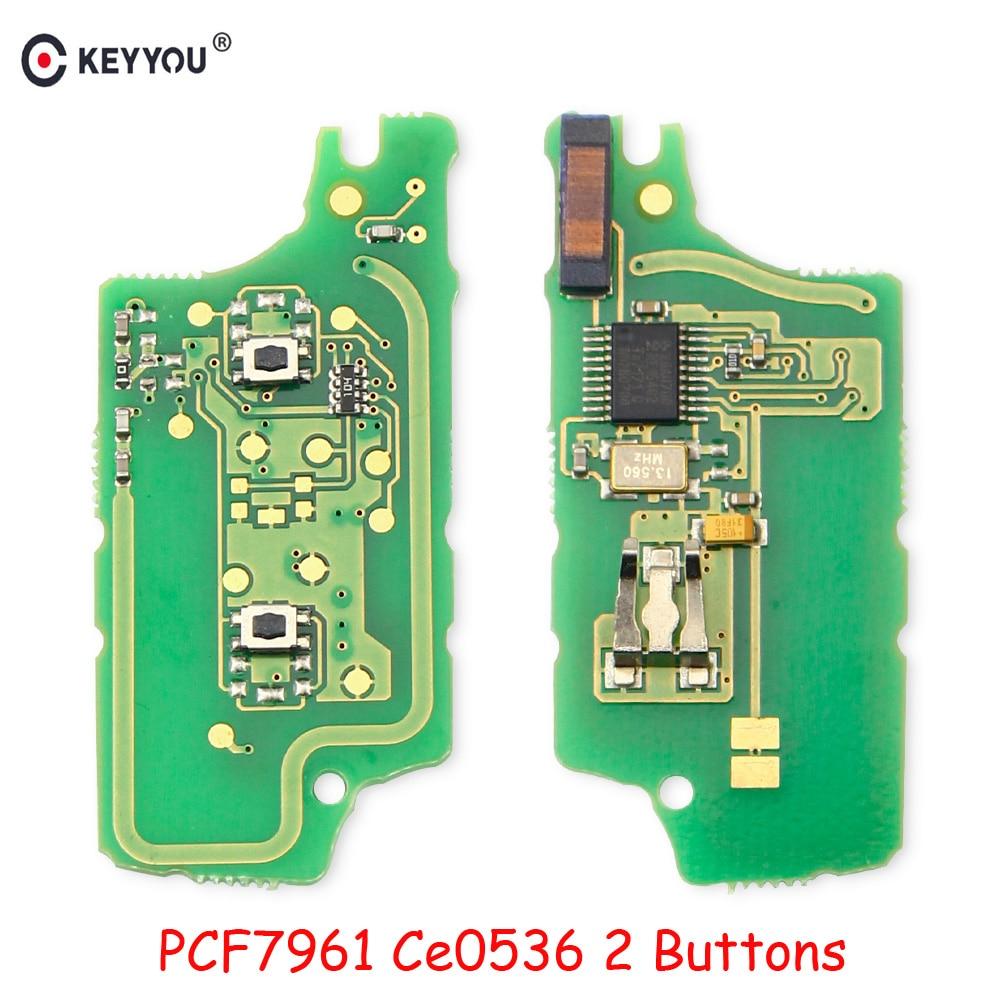 Электронная плата для ключей автомобиля, пульт дистанционного управления для Peugeot 307 308 2009 408 407 207 2007 SW для Citroen C2 C3 CE0536 2 кнопки