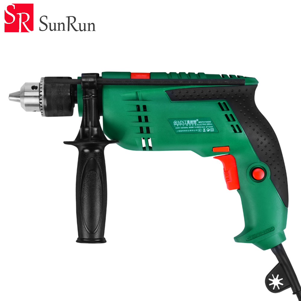 все цены на Free shipping 13T Dual purpose 220V Impact drill Infinitely variable speed electric screwdriver power tools