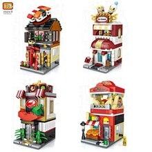 LOZ Mini Blocks Ice-Cream Gifts Kids Toy Street-Store Shop Model Building-Bricks Educational