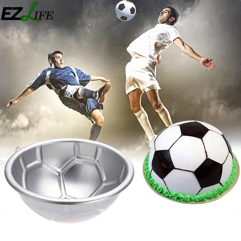 3D Aluminium Soccer <font><b>Cake</b></font> Mold Pudding Pan Fondant Pastry Baking Mould Cookie Mold DIY <font><b>Cake</b></font> <font><b>Decorating</b></font> <font><b>Tools</b></font> CHW7459 image