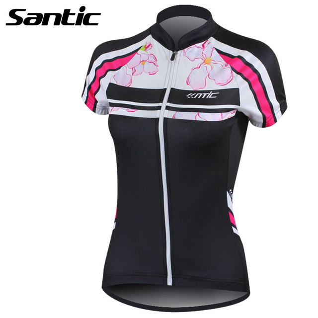 Santic Summer Cycling Jerseys Women Short Sleeve Bike Bicycle Jersey Quick- dry Outdoor Sports Shirt f3daa5bcd