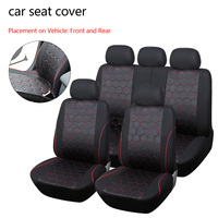 Dewtreetali Universal Car Seat Covers Soccer Ball Jacquard Fabric Fit Most Vehicle Interior Accessories Seat Covers
