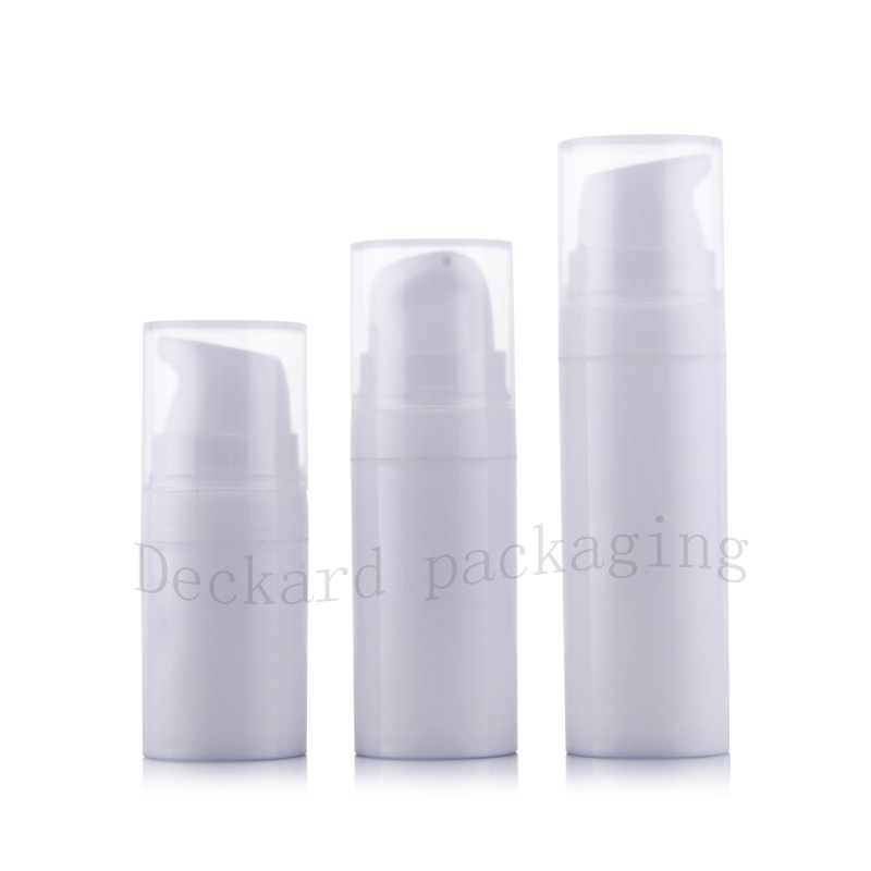 5ml 10ml 15ml white Airless Lotion Cream Pump Bottle Small Travel Cosmetic Skin Care Cream Plastic