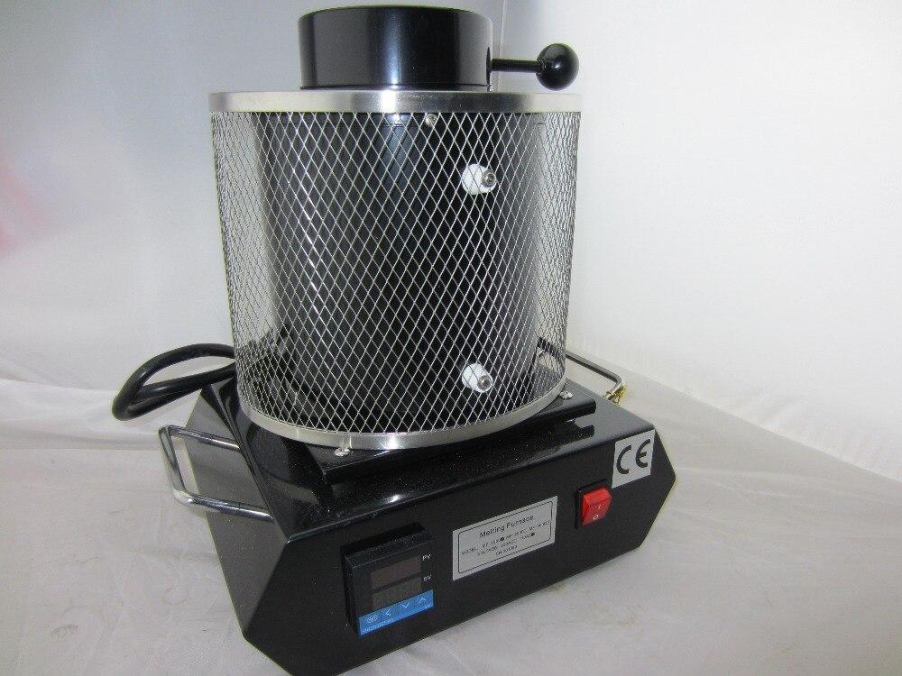 110 v Haute température Fours de Fusion, Or Four De Fusion avec 1 KG Creuset En Graphite bijoux coulée moule machine joyeria