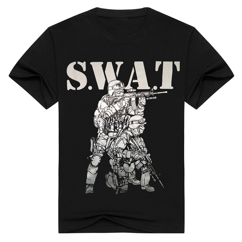 Tactical T Shirt Army Military Soldier T Shirt Style SWAT Combat Black T Shirt Men Casual 3D Print Breathable Tees Tops