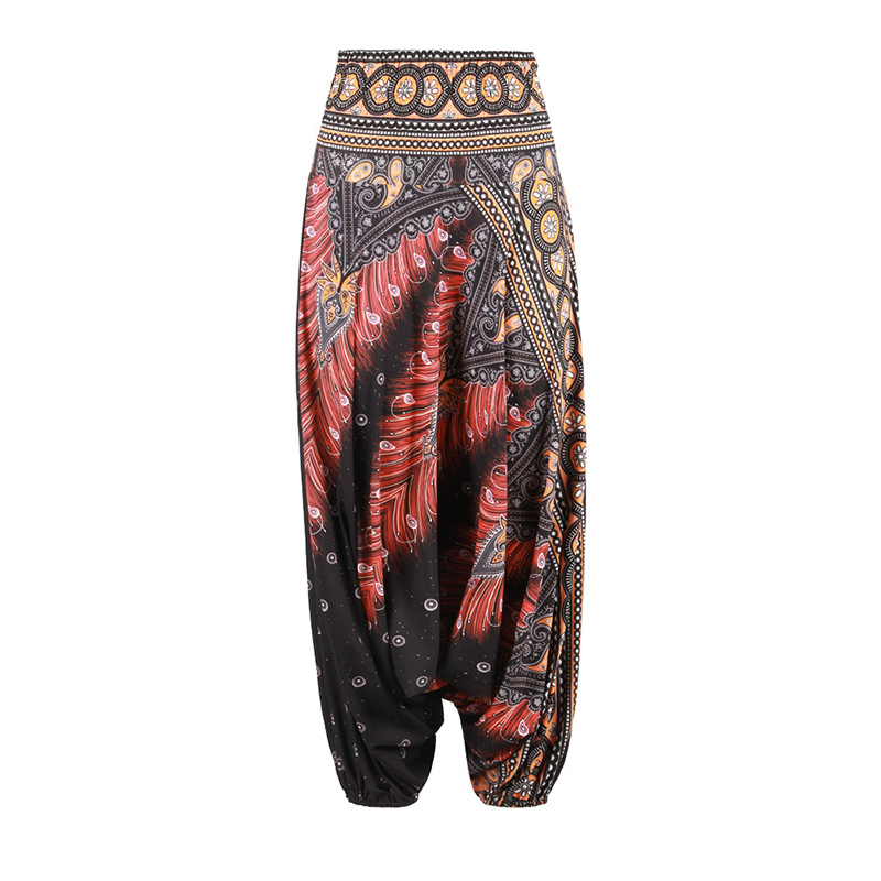 Women's Boho Print Loose Harem Pants 5