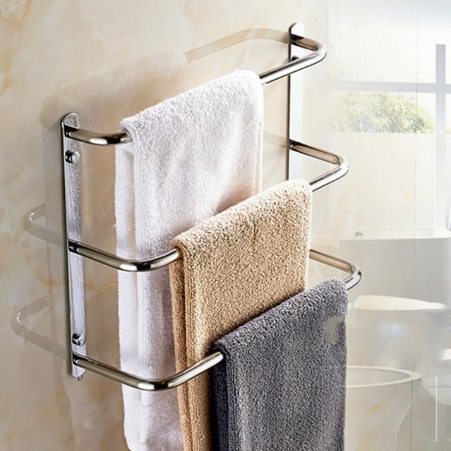 Sus 304 Rvs Badkamer Handdoekenrek Drie Balkon Creatieve handdoek ...