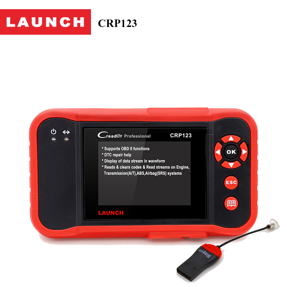 Prix pour Launch creader crp123 code scanner creader soutien pour multi marque de voiture outil de diagnostic creader crp 123 voiture outil d'analyse