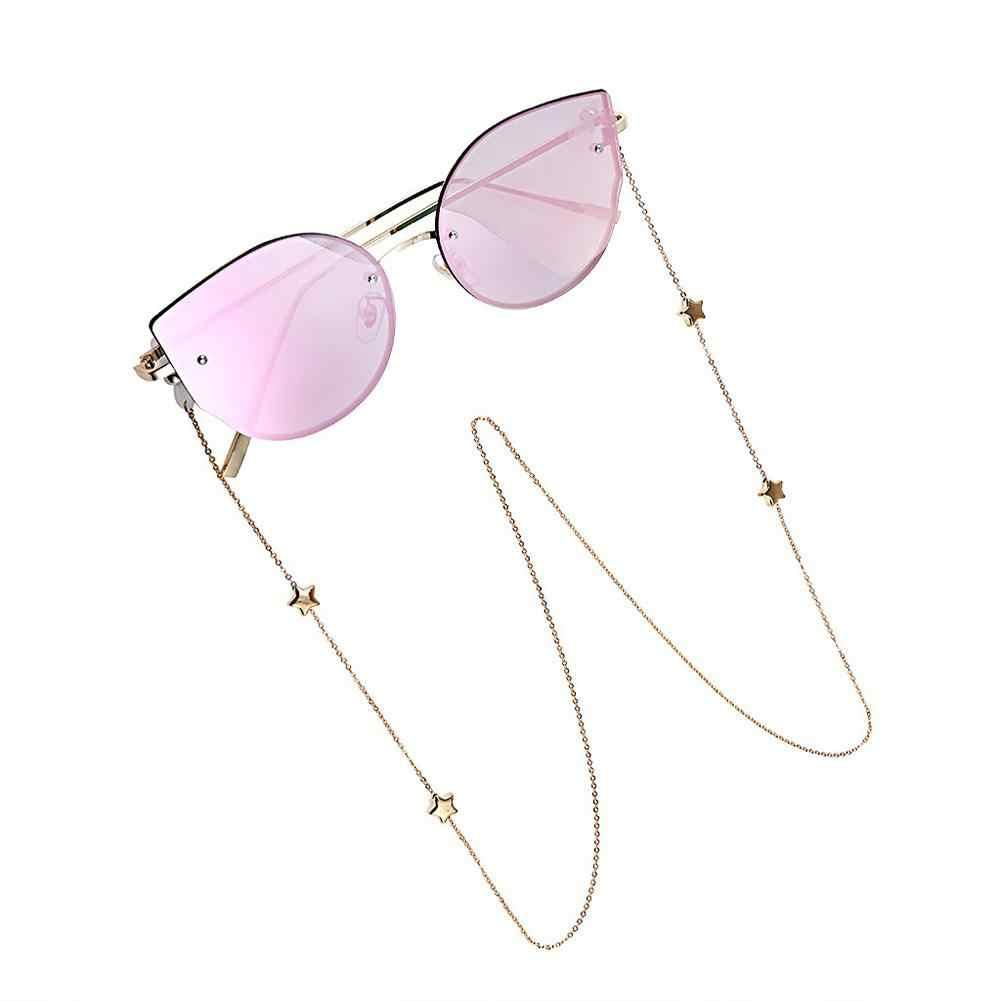 DSstyles ファッションシックなレディースゴールドシルバー眼鏡チェーンサングラス読書ビーズメガネチェーン Eyewears コードホルダーネックストラップ