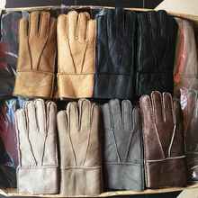 Winter gloves Men New 2018 Warm Leather Gloves Men Long Real Leather Gloves Fur Cashmere Genuine Leather Wool Warm Gloves N21 брошь solowear 4359 24