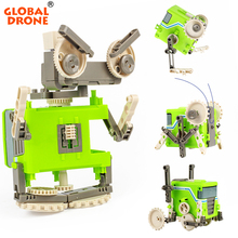 Global Drone 4 IN 1 Electronic Building Blocks font b Science b font And Education Brick