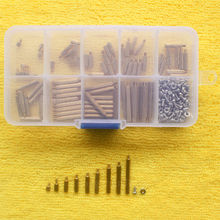 270pcs/box PCB M2 Male Female Threaded Brass Spacer Standoffs Screw Nut Assortment