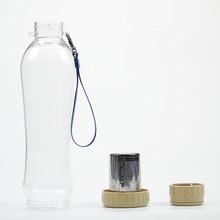 Botella de la coctelera 600 ml Botella Libre de BPA Botella de Agua de Bicicletas Ciclismo Camping Deporte Botella de Agua de Bebida de Té de Infusión De Plástico Taza
