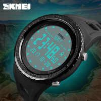 Relojes de pulsera digitales SKMEI Outdoor Soprt relojes militares de esfera grande para hombres 50M resistente al agua EL reloj electrónico de luz