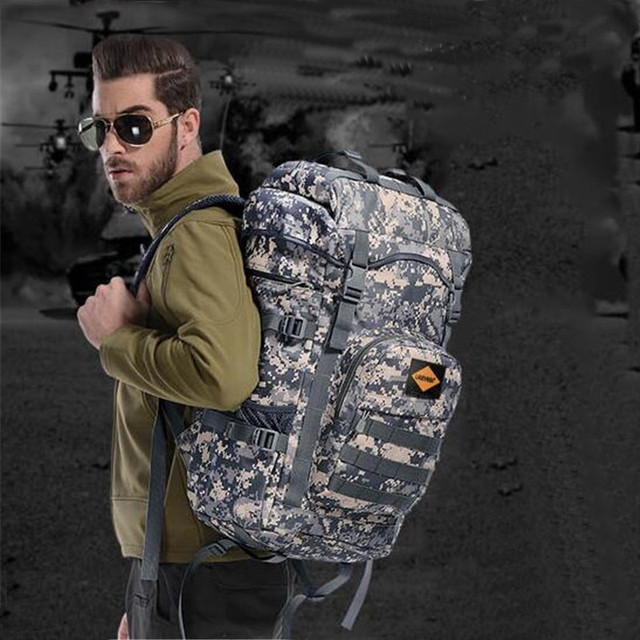 Hot fashion leisure nylon backpack military backpack multi-functional waterproof Men's bags Oxford travel camouflage The laptop