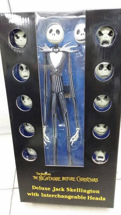 New Arrival The Christmas Jack Skellington 12 Face 38CM Doll Movie PVC Action Figure Resin Collection Model Toy Halloween Gifts the nightmare before christmas jack cute jack skellington pvc action figure collectible model toy 16cm kt2638