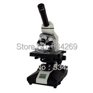 40-1600X Monocular Inclined Biological Microscope with Electric Light 360 Degree Rotated monocular biological compound microscope led light and charger can be installed with rechargeable batteries