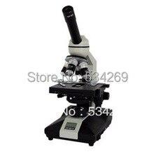 40-1600X Монокуляр Наклонный Биологический Микроскоп с Электрическим Светом 360 Градусов Поворачивается